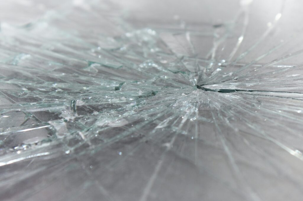 Shattered Glass of a Windshield - Broken Glass Texture